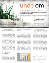 Nature & Environment: Stones and Grass Newsletter Template #04639