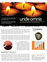 Religious/Spiritual: Religious Service Newsletter Template #04743
