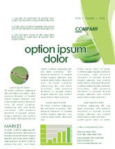 Food & Beverage: Sliced Green Apple Newsletter Template #04794