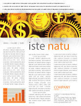 Financial/Accounting: Finanzen Newsletter Vorlage #04839
