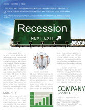 Financial/Accounting: Recession Newsletter Template #04847