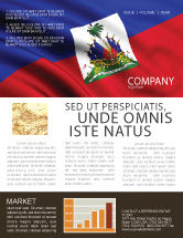 Flags/International: Haiti Newsletter Template #04875