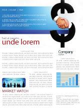 Business Concepts: Modèle de Newsletter de commerce de devises #04911
