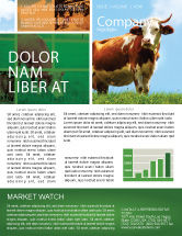 Agriculture and Animals: Cow Newsletter Template #04991