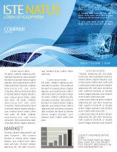 Technology, Science & Computers: パーソナルコンピュータ有線モデル - ニュースレターテンプレート #05007