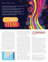 Abstract/Textures: Modèle de Newsletter de tâche de couleur #05061