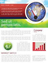 Careers/Industry: Fuel Meter Newsletter Template #05077