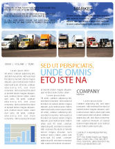 Cars/Transportation: Trucks Newsletter Template #05080