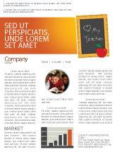 Education & Training: I Love My Teacher Newsletter Template #05109