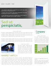 Business Concepts: Exit Newsletter Template #05111