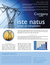 Careers/Industry: Power Lines Mast Newsletter Template #05131