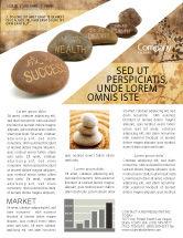Religious/Spiritual: Feng Shui Stones Newsletter Template #05166