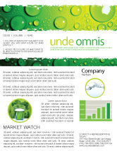 Abstract/Textures: Green Water Drops Newsletter Template #05216