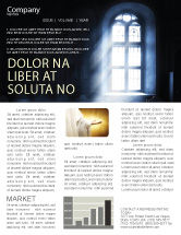 Religious/Spiritual: Window In the Church Newsletter Template #05230