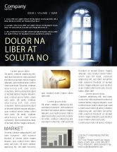 Religious/Spiritual: 教会の窓 - ニュースレターテンプレート #05230