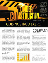 Business Concepts: Closed Under Construction Newsletter Template #05236