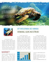 Agriculture and Animals: Sea Turtle Newsletter Template #05237