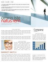 Business: Walking Man Newsletter Template #05240