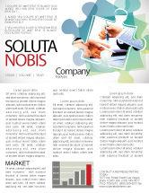 Business: Negotiation In Progress Newsletter Template #05249