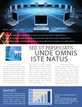 Technology, Science & Computers: Networking Connection Star Type Newsletter Template #05256