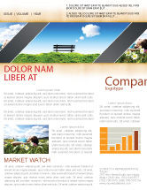 Nature & Environment: Bank Newsletter Vorlage #05275