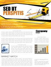 Careers/Industry: Plantilla de boletín informativo - cinta métrica #05282