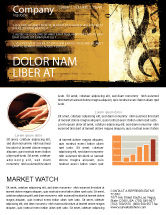 Careers/Industry: Piano Keyboard With Treble Clef Newsletter Template #05289