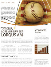 Sports: American Baseball Newsletter Template #05296