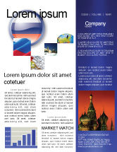 Flags/International: Russian Flag Newsletter Template #05313
