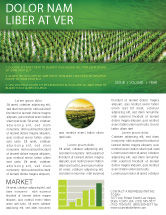 Agriculture and Animals: Rice Paddies Newsletter Template #05325