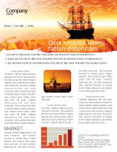 Cars/Transportation: Sailing Ship Newsletter Template #05333