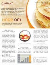 Food & Beverage: Pfannkuchen Newsletter Vorlage #05343