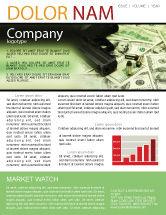 Financial/Accounting: Modèle de Newsletter de argent et armes à feu #05349