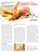 Food & Beverage: Shrimp Newsletter Template #05355