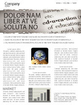 Education & Training: Glossary Newsletter Template #05367