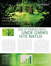 Nature & Environment: Pathway In The Forest Newsletter Template #05377
