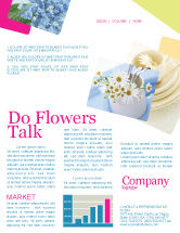 Careers/Industry: Table Bouquet Newsletter Template #05406