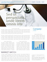 Medical: Portrait Of Medical Staff Newsletter Template #05468