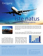 Cars/Transportation: Modern Plane Newsletter Template #05474