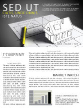 Careers/Industry: House Draft Newsletter Template #05541