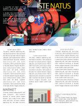 Medical: Modèle de Newsletter de kit d'ambulance #05551