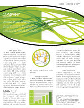 Abstract/Textures: Green Fibers Newsletter Template #05553