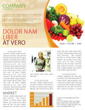 Agriculture and Animals: Fruits and Vegetables Newsletter Template #05579
