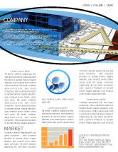 Construction: Office Building Planning Newsletter Template #05599