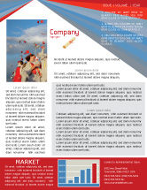 Education & Training: Graduation In Red Blue Colors Newsletter Template #05620