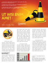 Construction: Traffic Cones Newsletter Template #05631