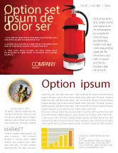 Careers/Industry: Fire Extinguisher Newsletter Template #05641