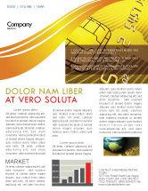 Financial/Accounting: Modèle de Newsletter de carte de crédit bancaire #05643