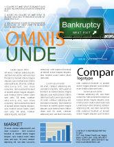 Financial/Accounting: Modèle de Newsletter de faillite #05652