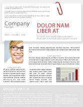 Business: Büroklammer Newsletter Vorlage #05715